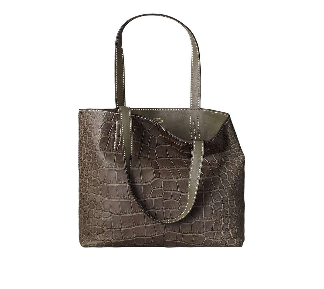 Shopping bag marrone reversibile