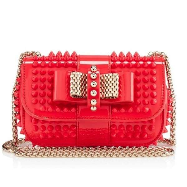 Tracolla Sweet Charity rossa Christian Louboutin