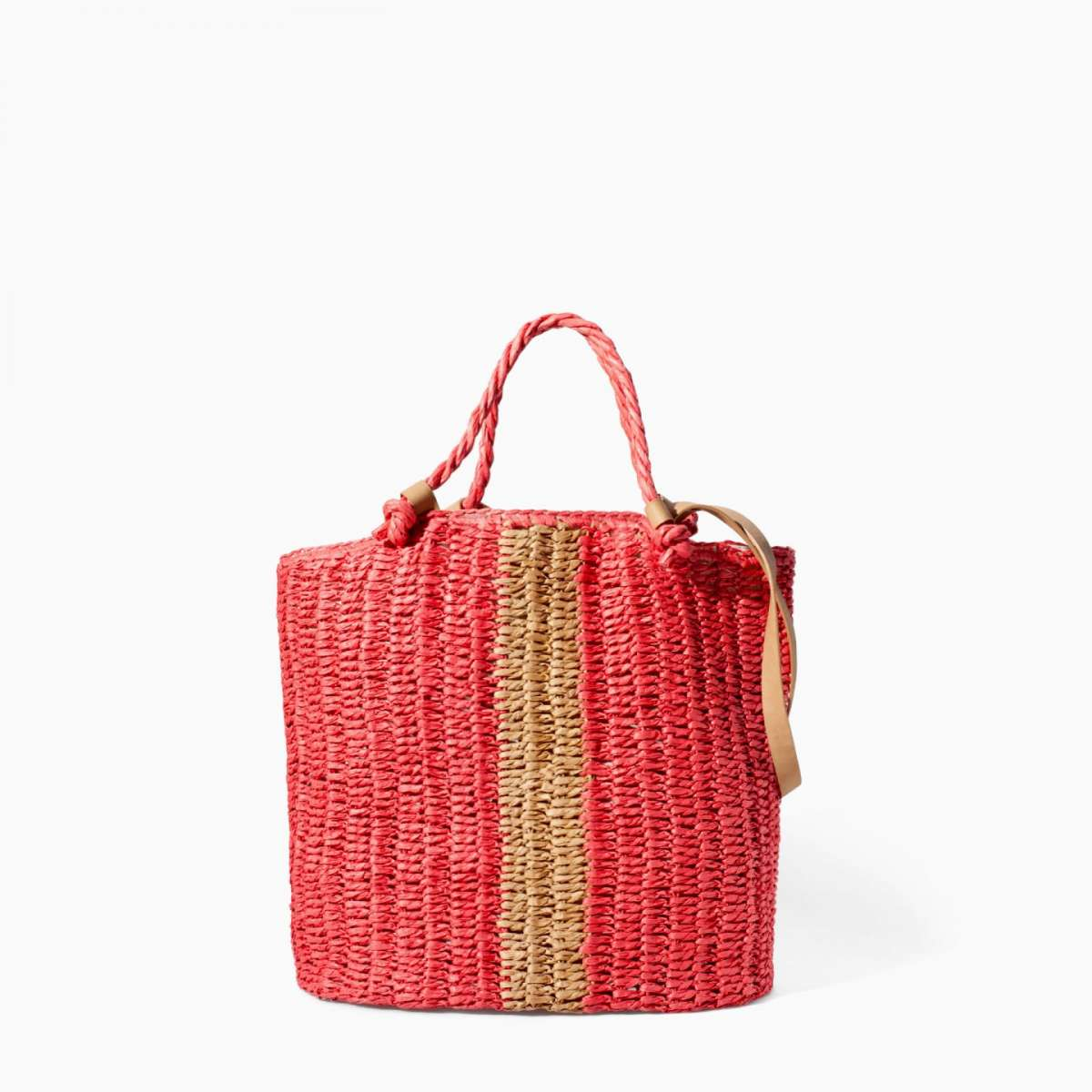 Borsa in rafia colorata Zara