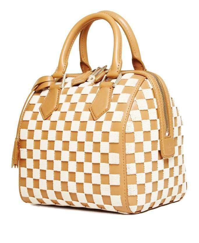 Bauletto a quadri bicolor Louis Vuitton