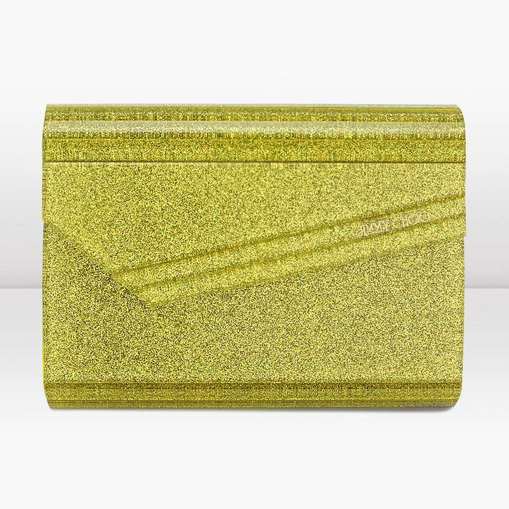 Candy clutch Jimmy Choo gialla