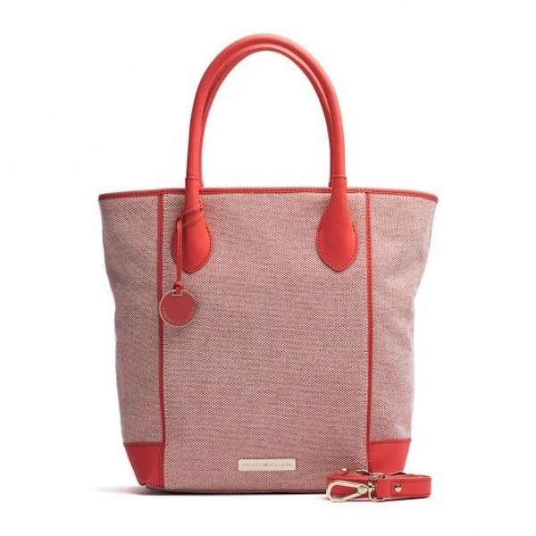 Shopper arancio Tommy Hilfiger