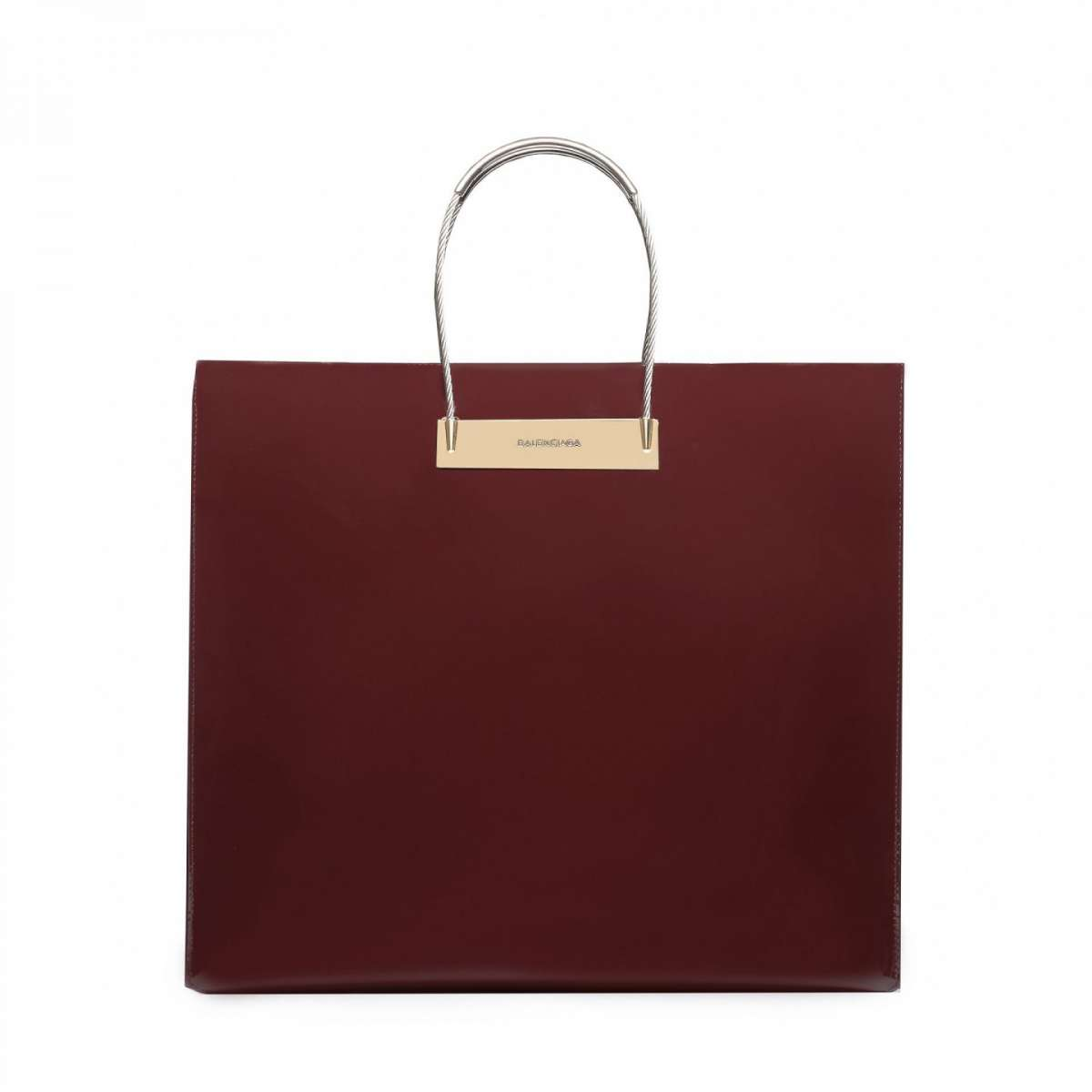 Cable shopper Balenciaga burgundy