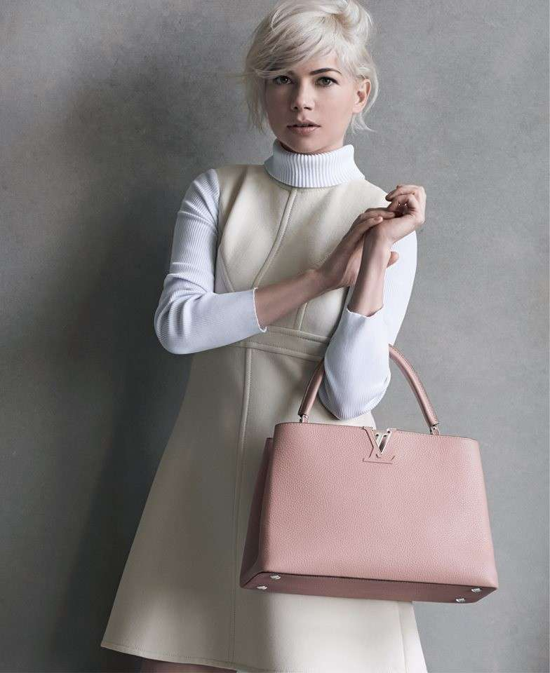 Handbag Louis Vuitton nell'adv con Michelle Williams