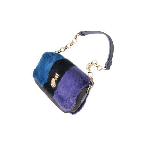Shoulder bag in pelliccia
