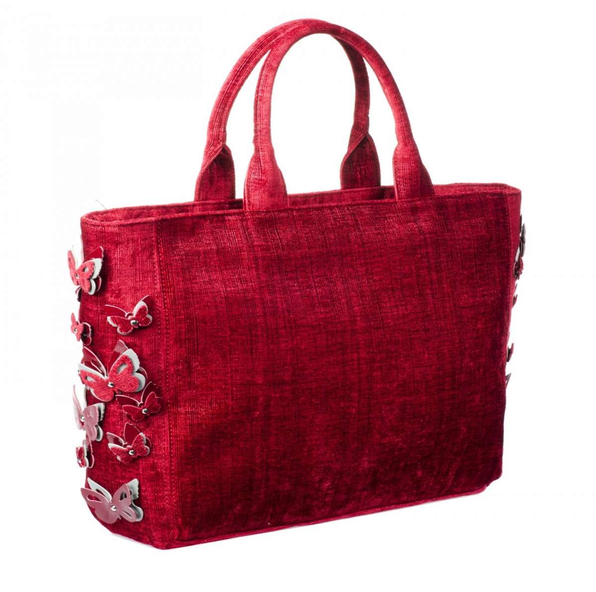 Pinko Bag in velluto corallo