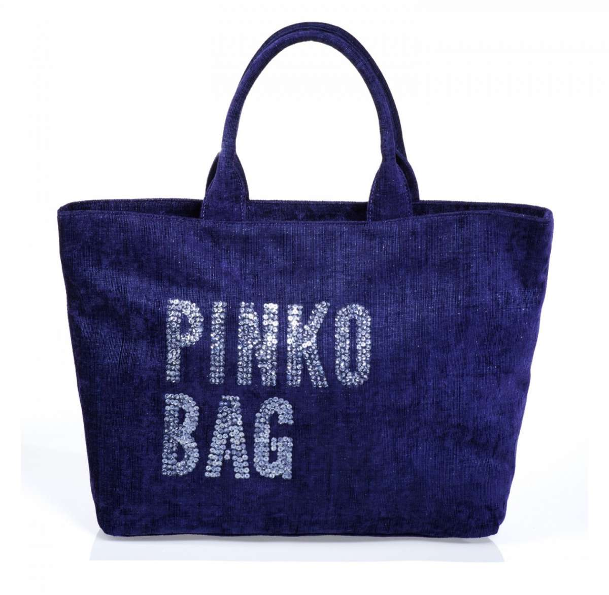 Shopper Pinko in velluto blu
