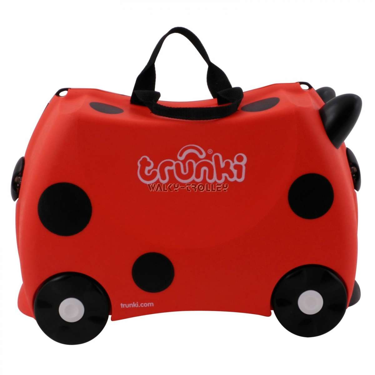 Trolley per bambini rosso a pois Trunki