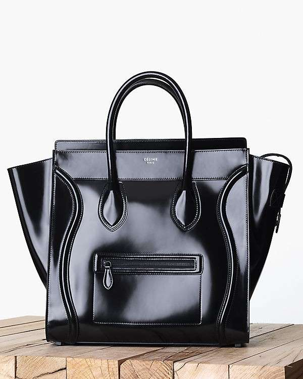 Handbag Luggage Celine in vernice nera