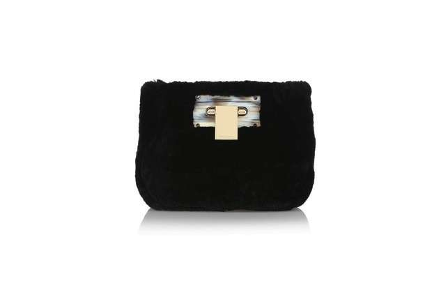 Peluche bag morbida nera Tory Burch