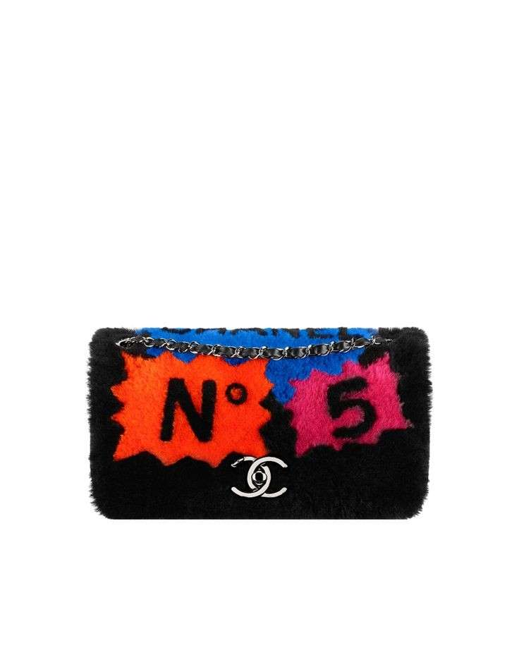 Peluche bag clutch colorata Chanel