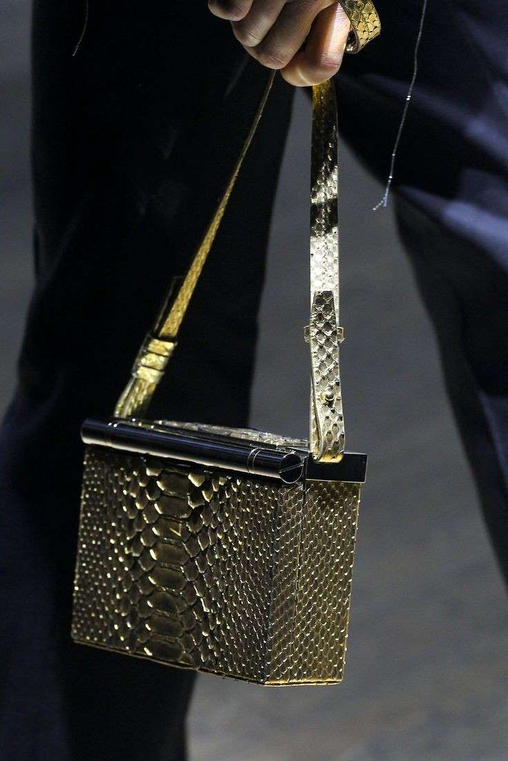 Box bag metalizzata Lanvin