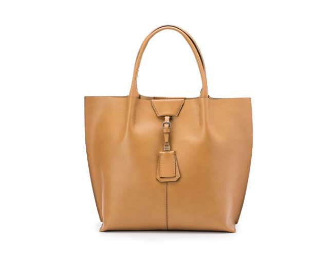 Shopping bag cuoio
