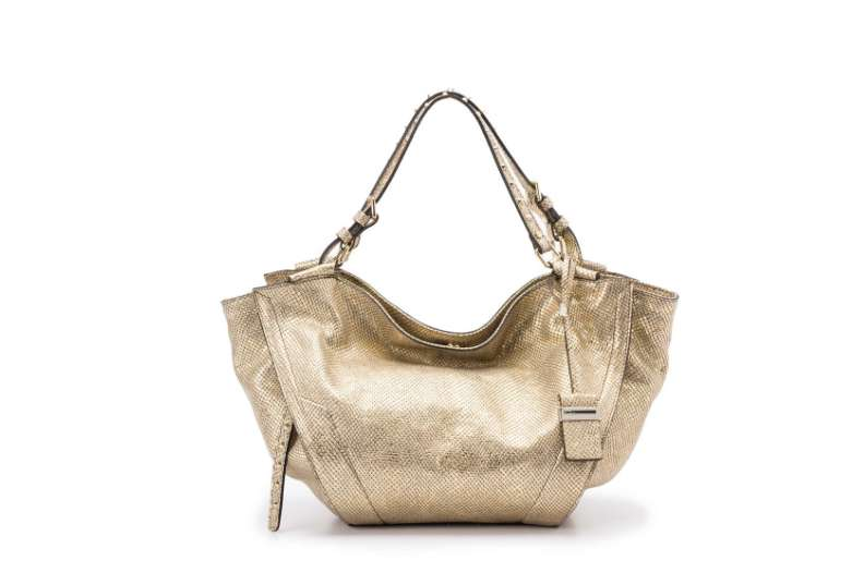 Shoulder bag stampa rettile oro