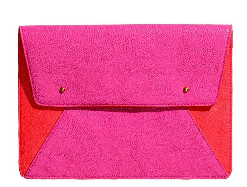 Clutch fluo color block H&M