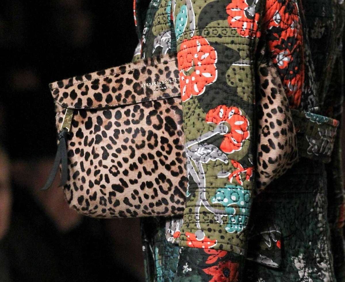 Clutch animalier Burberry