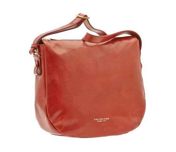 Shoulder bag rossa in pelle