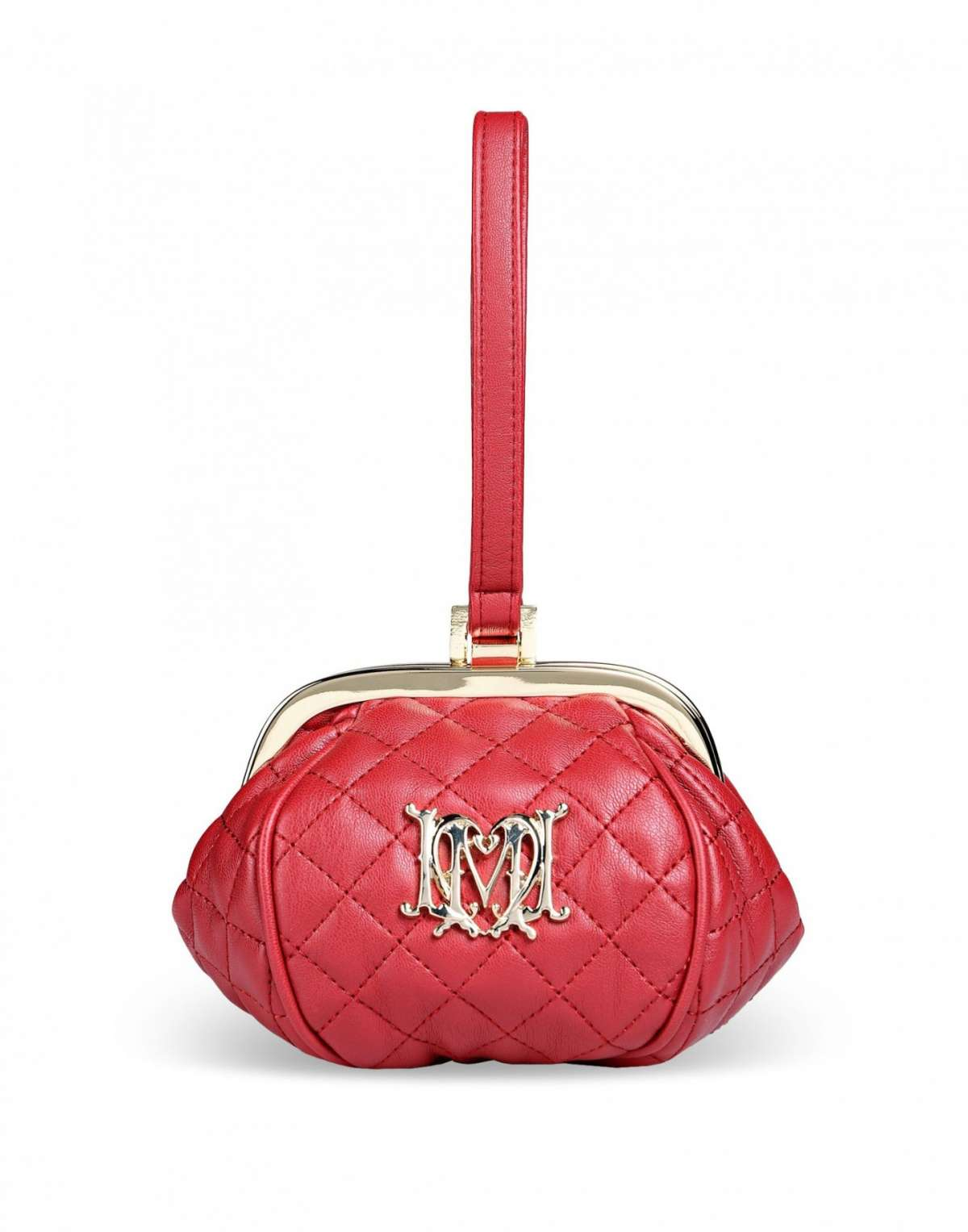 Clutch rossa Love Moschino