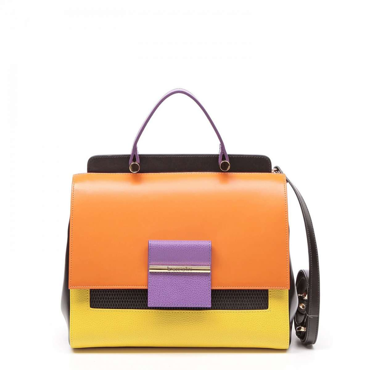 Handbag in color block