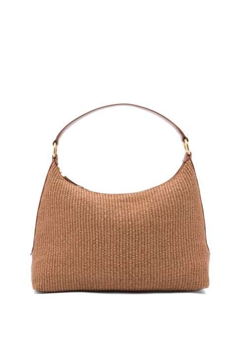 Hobo bag in rafia colore naturale