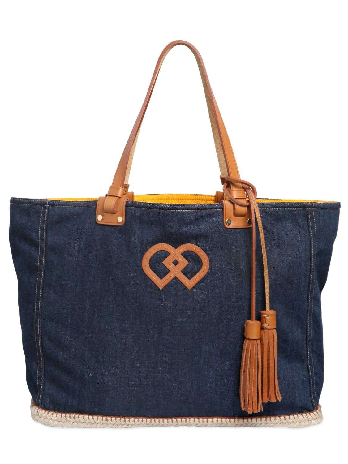 Shopping bag in denim DSquared2