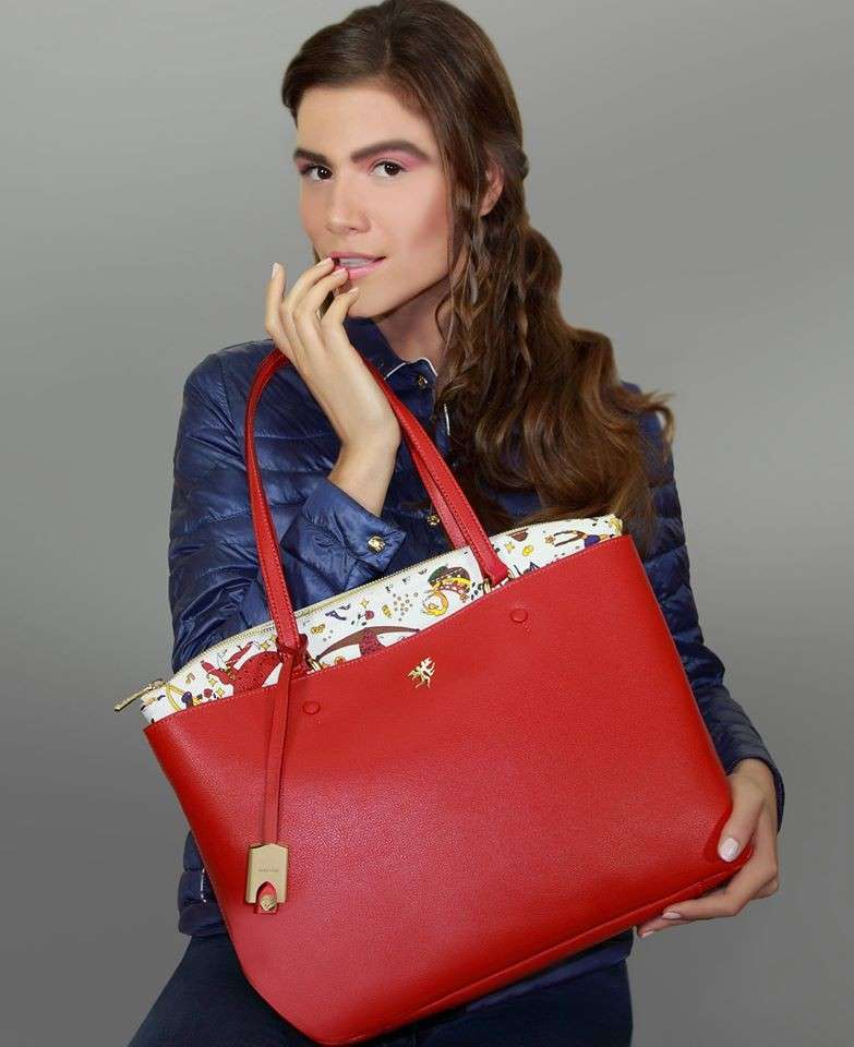 Shopper rossa Piero Guidi