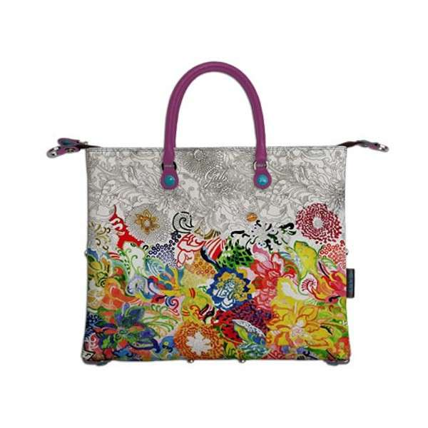 Shopping bag stampa astratta colorata