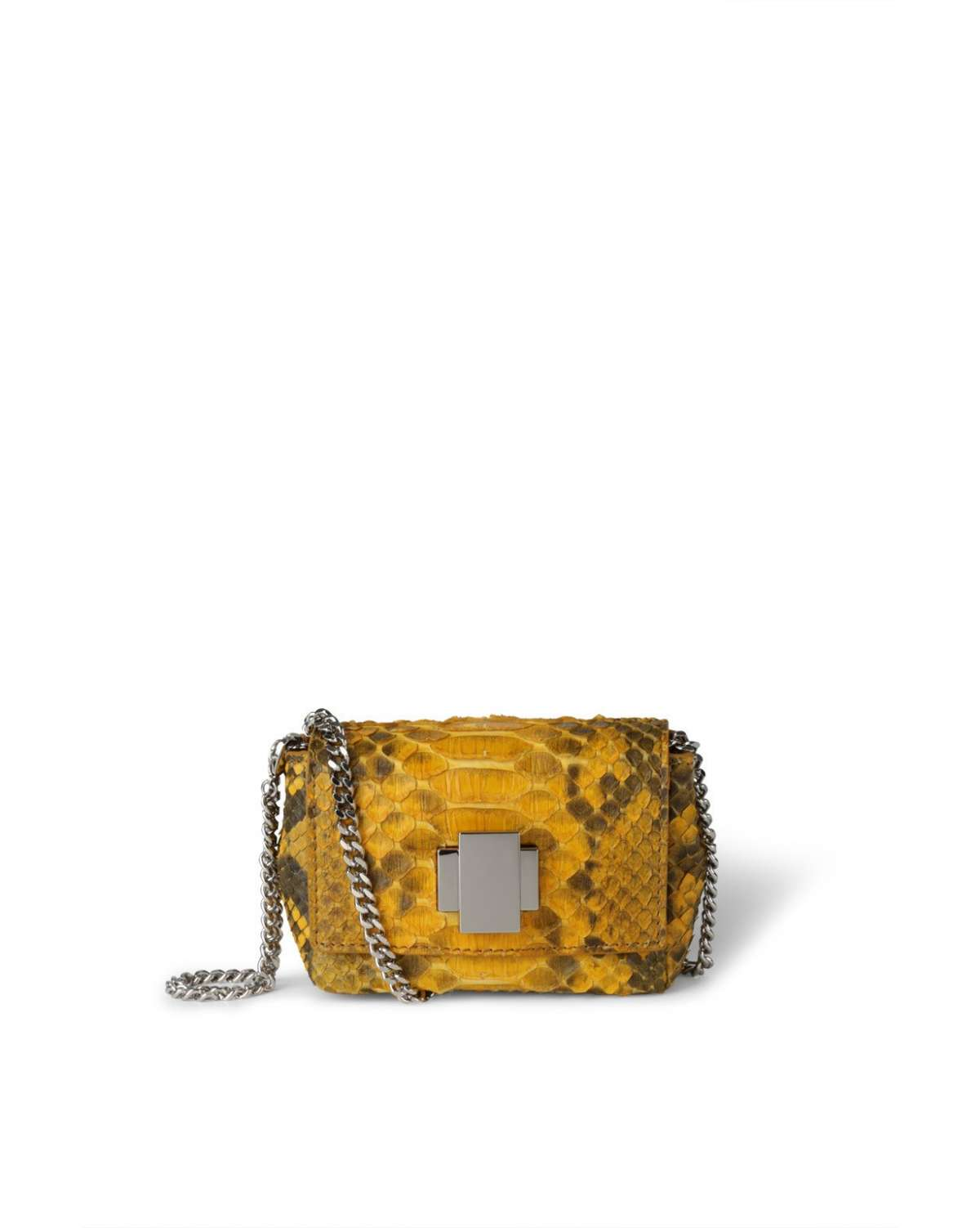 Mini bag in pitone giallo degradé