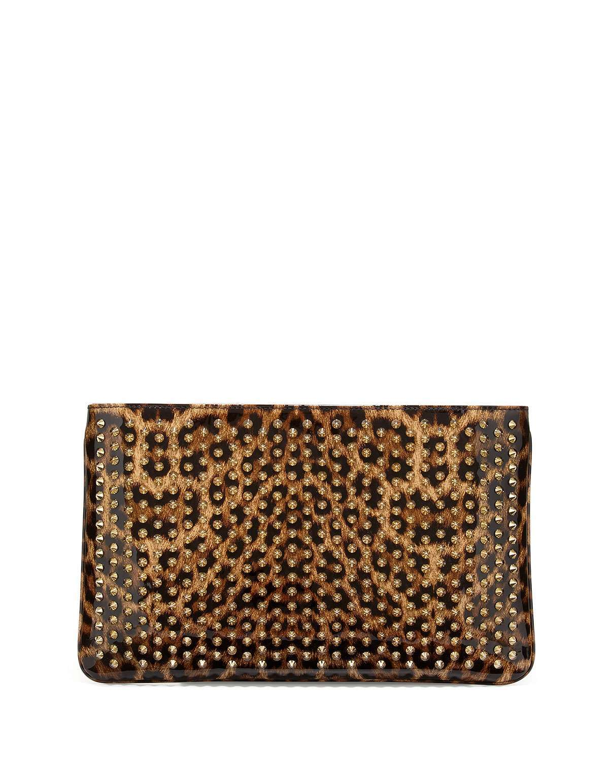 Clutch bag animalier con strass Christian Louboutin
