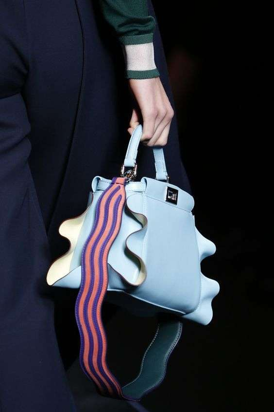 Mini bag con ruches Fendi