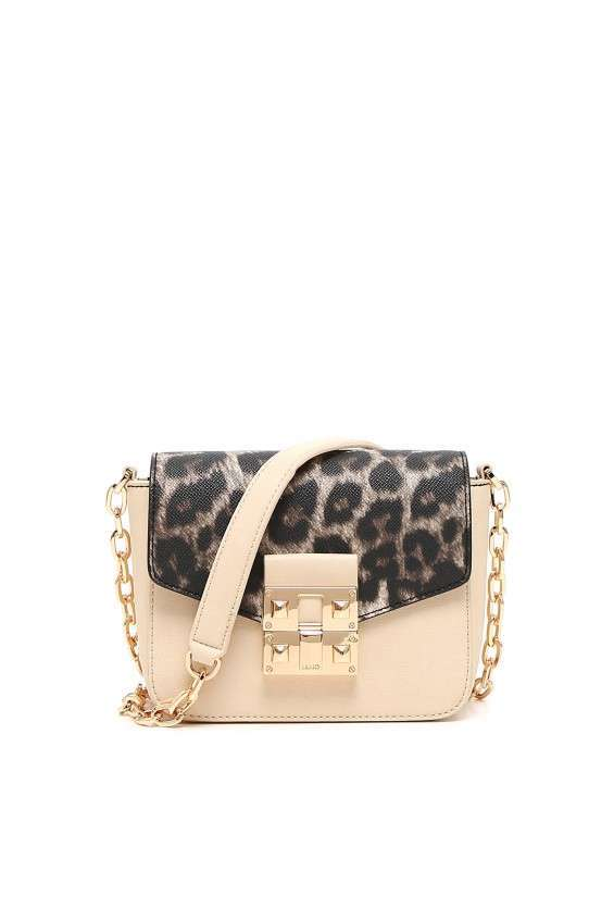 Mini bag cipria e animalier