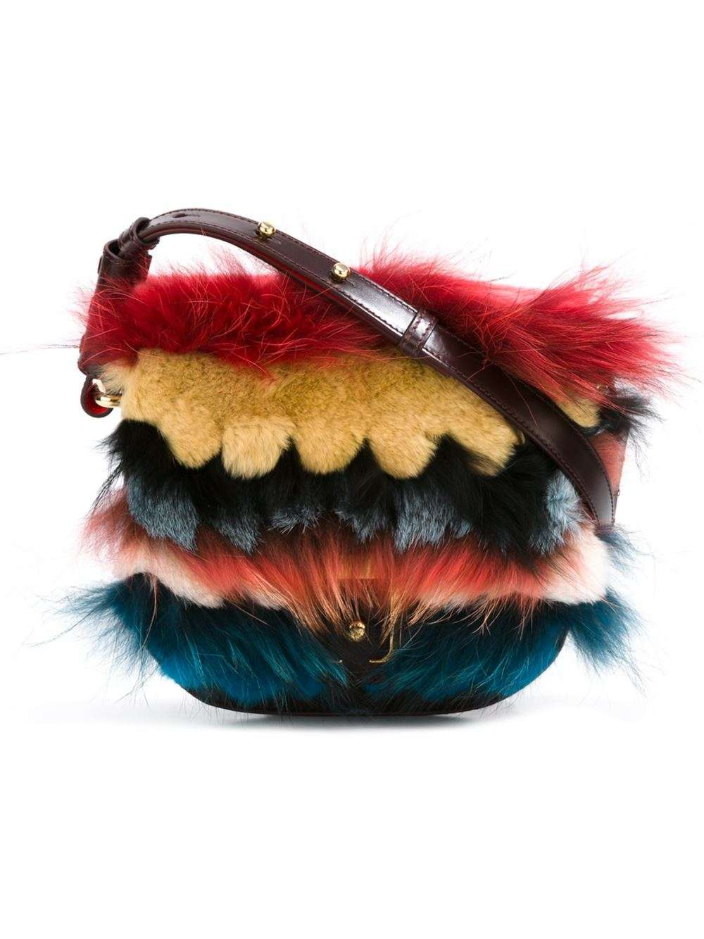 Shoulder bag in pelliccia multicolor Paula Cademartori