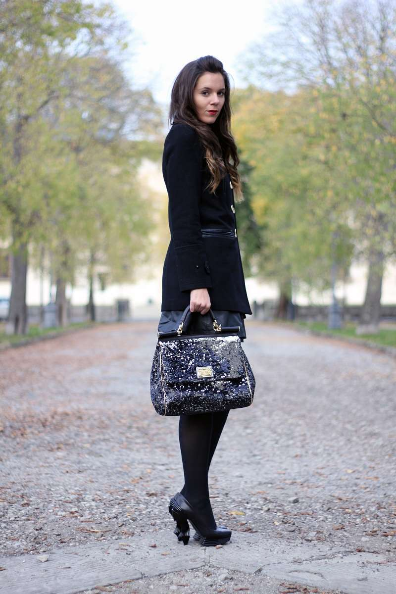 Look total black con Miss Sicily