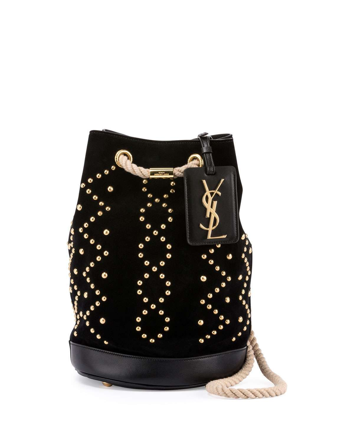 Mini secchiello borchiato Saint Laurent