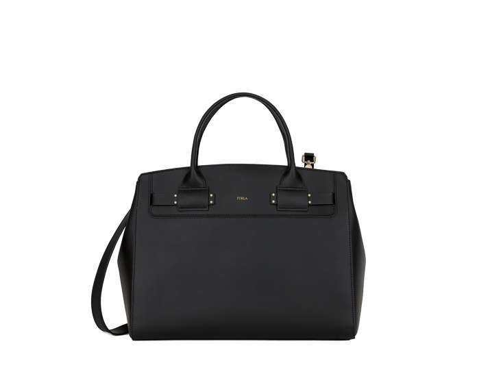 Tote in vitello nero Furla