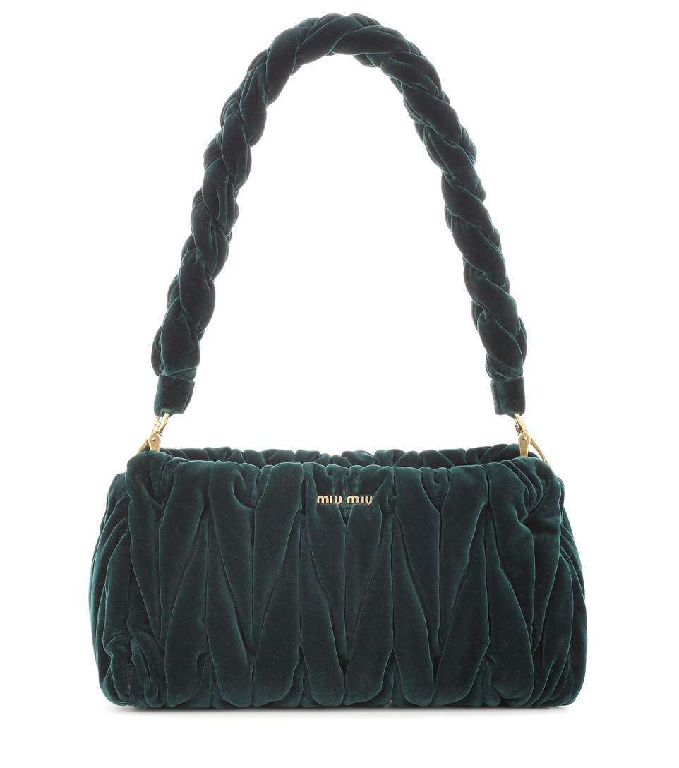 Velvet shoulder bag Miu Miu