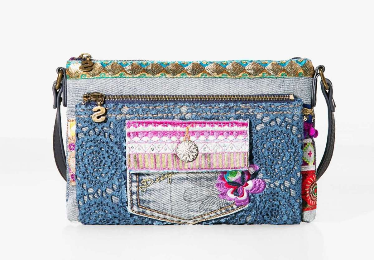 Borsa a tracolla in denim Desigual