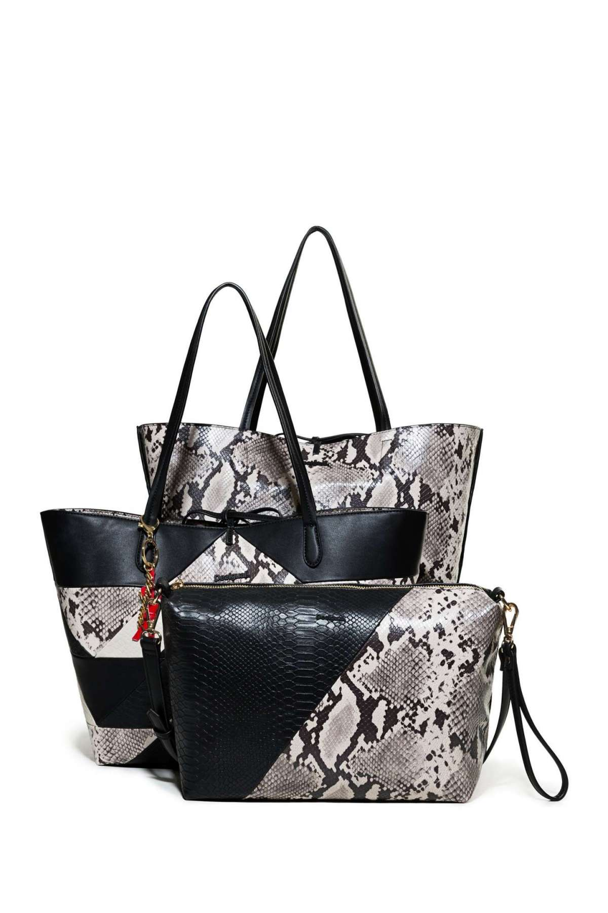 Shopping bag 3 in 1 con stampa pitone a 99,95 euro