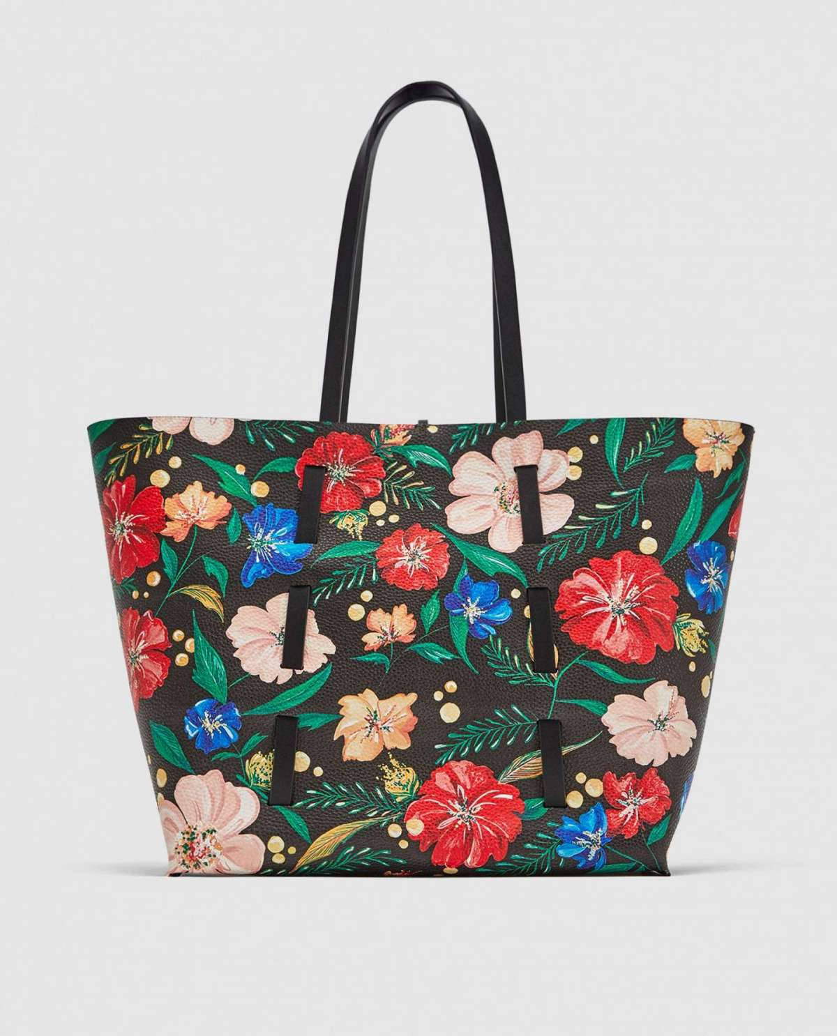 Shopping bag a fiori Zara