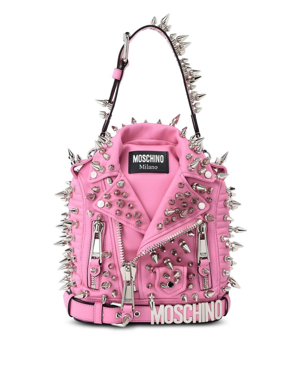 Zainetto con borchie Moschino