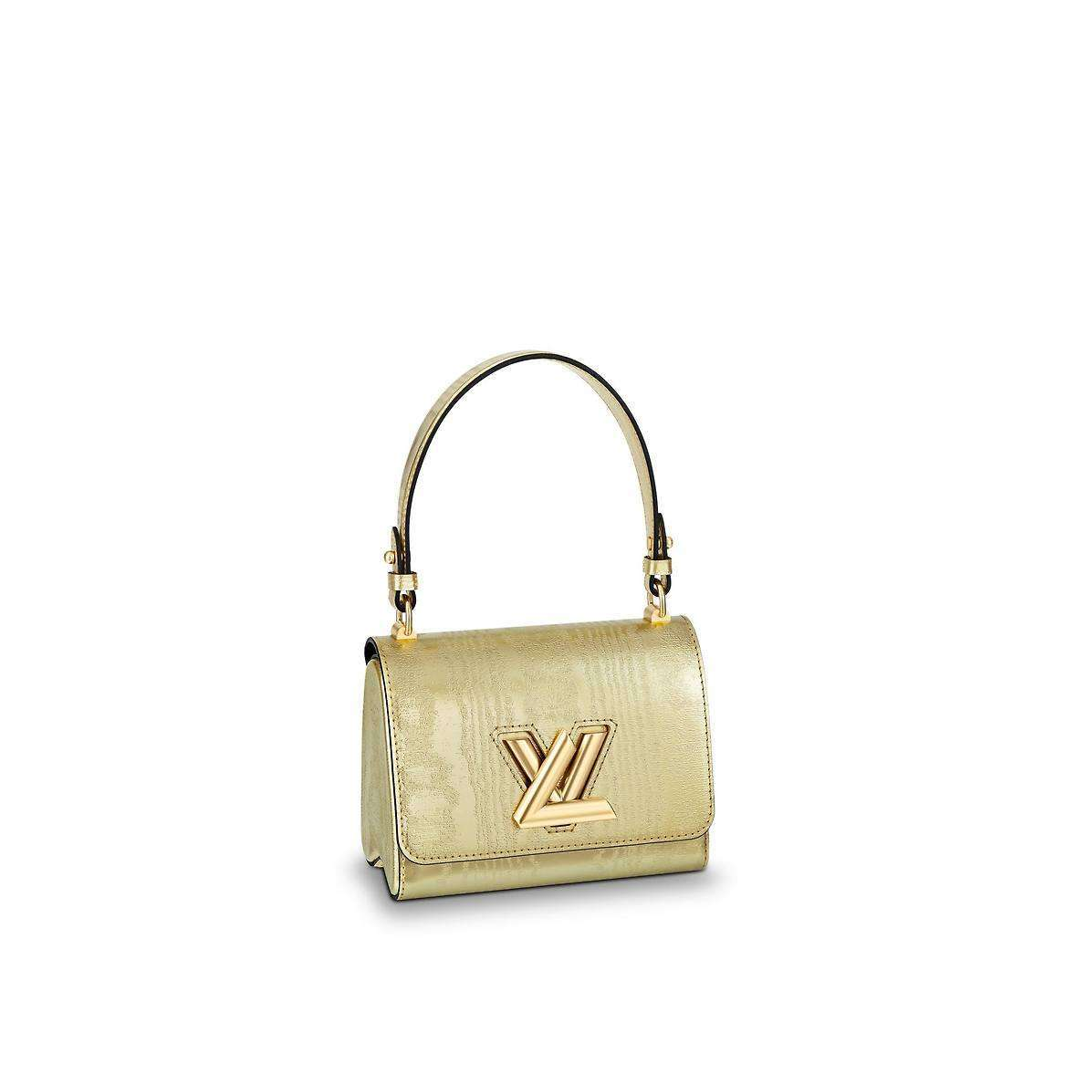 Borsa a spalla Twist PM Louis Vuitton dorata