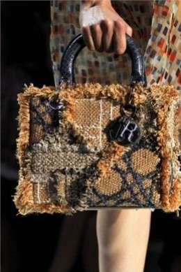 Lady Dior in rafia