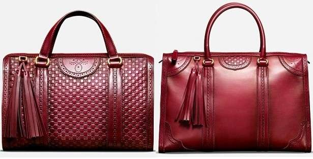 Gucci tote rosse in pelle