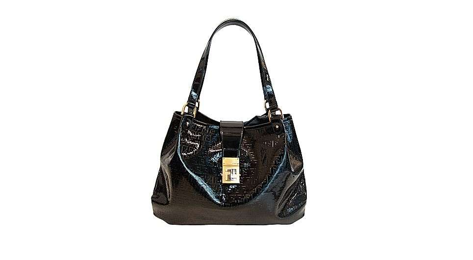 Fendi handbag in pelle nera