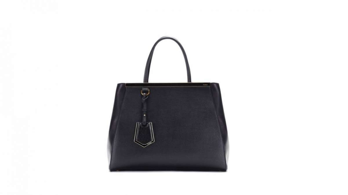 Fendi 2Jours bag in pelle nera