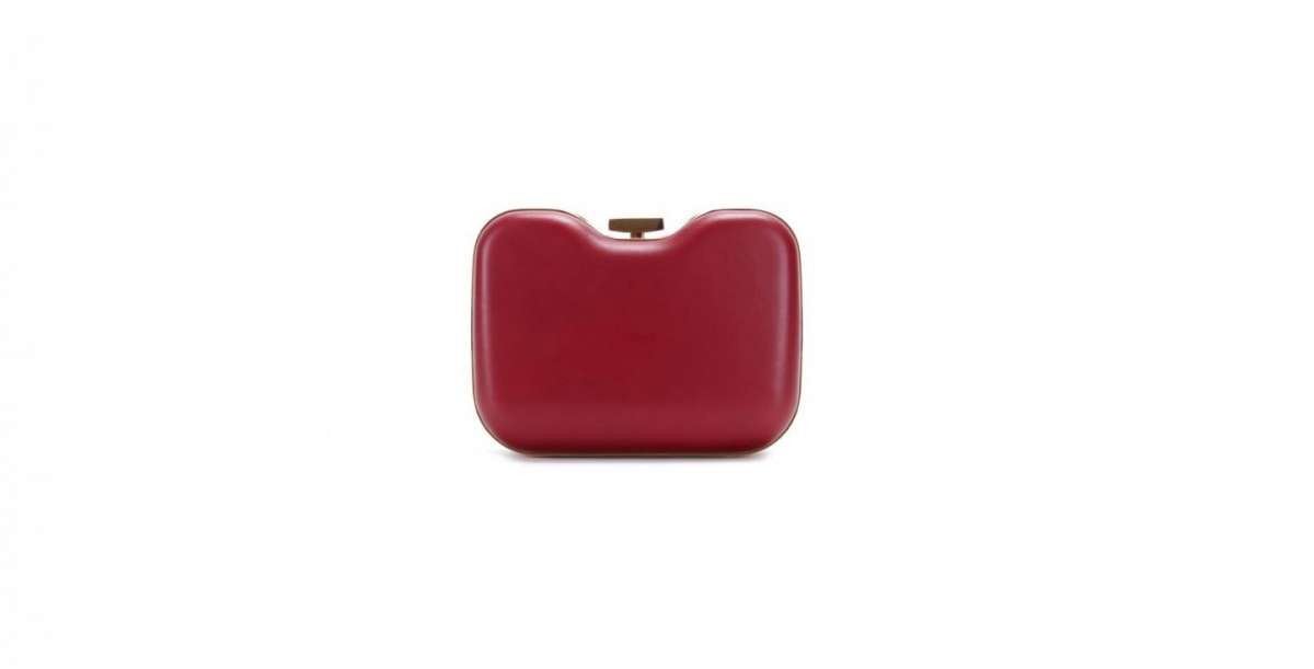 Fendi box clutch rossa
