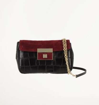 Coccinelle, clutch con stampa alligatore