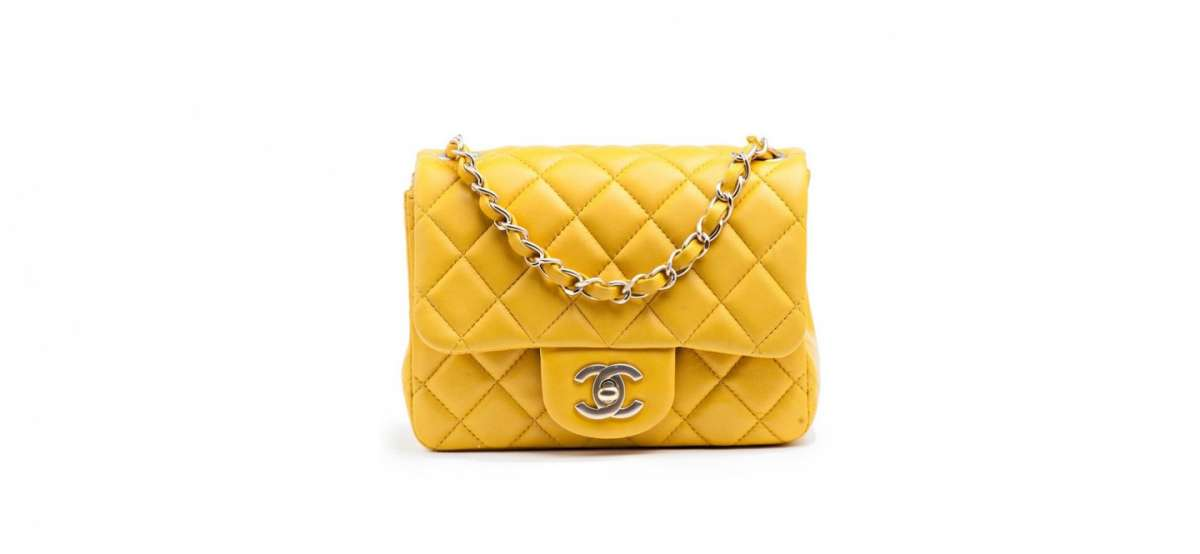 Borse Chanel, mini bag in pelle gialla