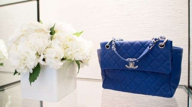Borse Chanel, handbag in pelle blu