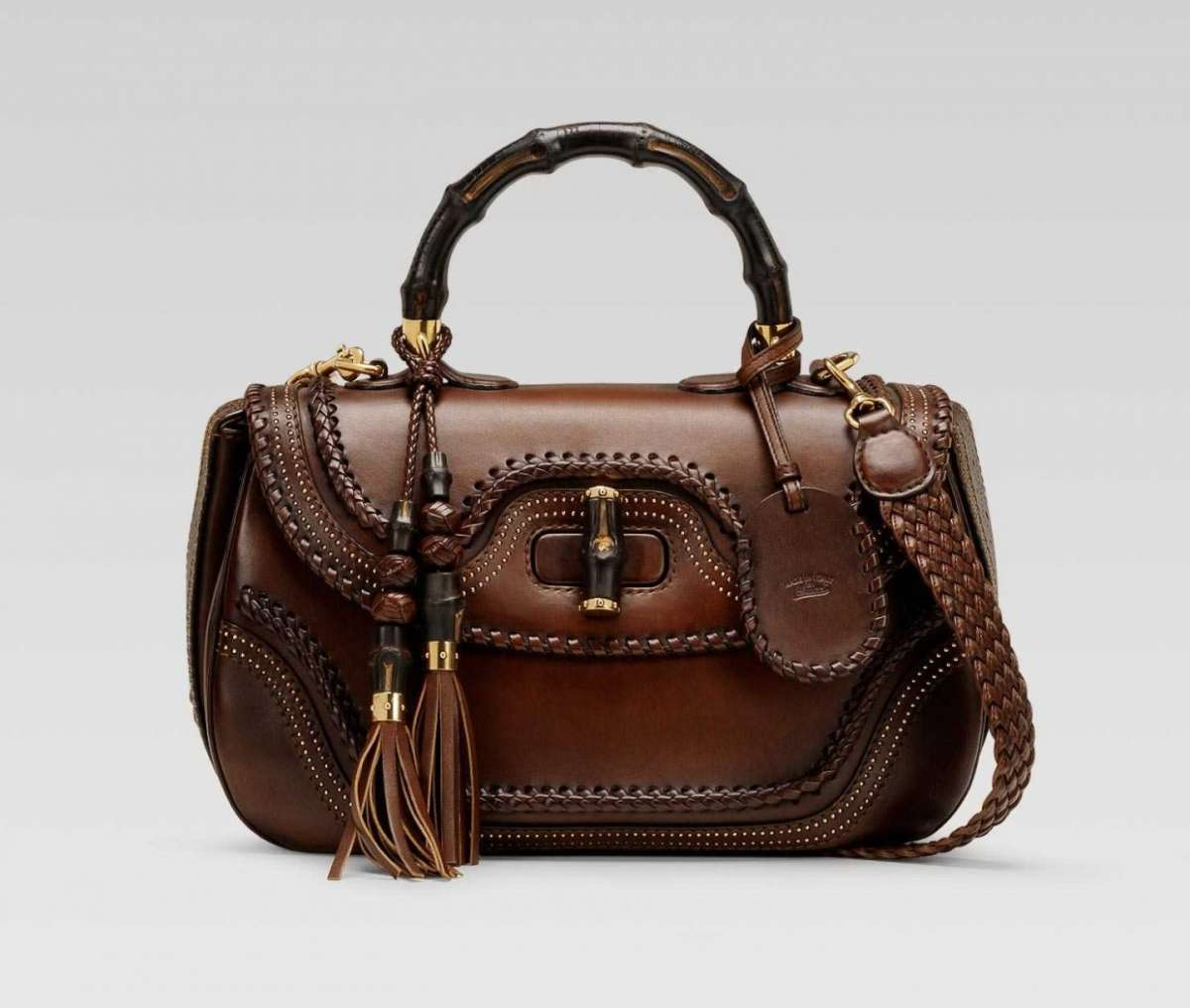 Handbag New Bamboo Gucci in pelle